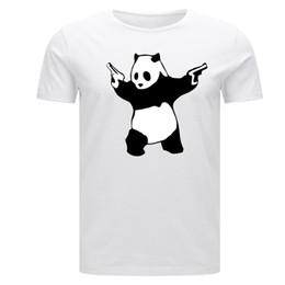 Banksy Panda Guns Child Kids Children's Adults Maglietta da uomo graffiti art urban da camicie panda per bambini fornitori