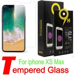 Pour iPhone XS Max 6.5 pouces XR Verre Trempé iPhone X 8 Protecteur D'écran Pour iPhone 7 Plus Film 0.33mm 2.5D 9H Anti-éclatement Papier Paquet X1 ? partir de fabricateur