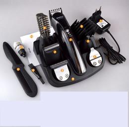 machine à raser électrique Promotion 2018 KEMEI KM-600 Professional 6 en 1 coupe-cheveux électrique coupe-cheveux rasoir rechargeable rasoir barbe machine de rasage