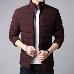 430463456cee 2018 Wintermode Marke Jacke Männer Koreanische Stehkragen Streetwear Parka  Dicke Steppjacke Puffer Blase Mantel Männer Kleidung