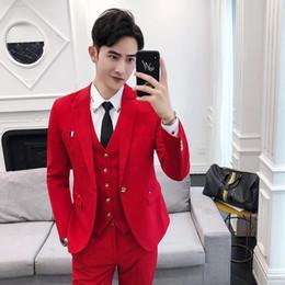 Traje para hombre: traje de tres piezas para la versión coreana de verano traje delgado para el padrino de boda profesional desde fabricantes