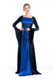 Canada Robe vintage européenne bleue robe chateau Français hôtesse élégante femme Halloween jeu de rôle cosplay dame élégante costume cheap elegant french dresses Offre