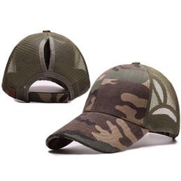 Wholesale Trucker Mesh Snapbacks - CC Ponytail Baseball Cap Plain Snapbacks fitted ball hat Fashion Trucker Visor Casquette Mesh Cap for women