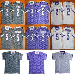 Wholesale Frog Custom - Custom TCU Horned Frogs 5 LaDainian Tomlinson 2 Boykin Stitched Any Name and Number Cheap American College Football Jerseys Size S-6XL