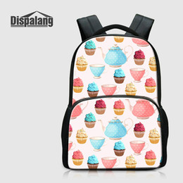 Wholesale Top Quality Notebooks - Women Fashion Traveling Backpack For Laptop Notebook Icecream Printed School Bag For Children College Mochilas Escolar Top Quality Rucksack