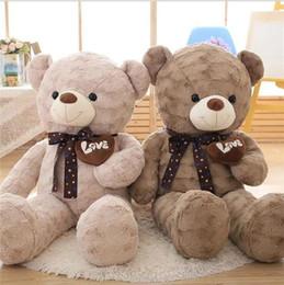 Brinquedos ted bear on-line-Grande tamanho Lindo brinquedo de pelúcia boneca de pelúcia coração macio e quente urso lenço ted amor amante de pelúcia bebê presente de aniversário crianças de Natal presente