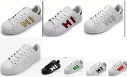 Wholesale pink mode - Hot Sale chaussures holographiques Mode Hommes Chaussures Casual Superstar Femmes Baskets Femmes Zapatillas Deportivas Mujer