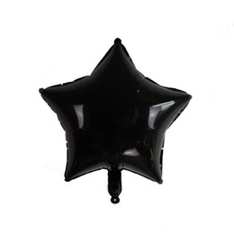 Wholesale pe bar - 18 Inch Metallic Balloons Five Pointed Star Inflatable Air Balloon Halloween Party Bar Decorate White Black 0 65fj WW