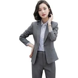 Интервью костюм костюм онлайн-Новый женский профессиональный интервью костюм летнее платье серый костюм темперамент dd6