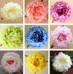 Peonie reali online-Artigianato falso bouquet di peonia di seta 13 colori fiori artificiali tocco reale fiori matrimonio casa decorazioni partito fiori di seta T2I257