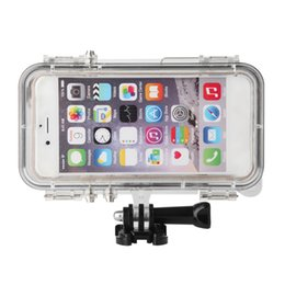 Wholesale Iphone Adapter Long - Super Waterproof Sports Phone Cases Cover 170 Degrees Wide Angle Lens For Iphone 6 &6s Built -In Longer For Gopro Adapter