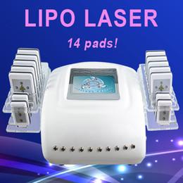 verwendet brennender laser Rabatt 650nm Lipolaser Laser-Lipolyse-fetter brennender Dioden Laser, der Maschinen-Diodenlicht 14 Auflagen für Salon-Klinik-Gebrauch abnimmt
