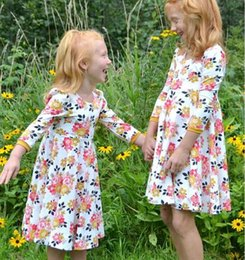 Wholesale Cotton Party Dresses For Toddlers - Girls Summer Dress 2018 Toddler Girls Princess Dress For Party Kids Dresses Girls Flower Dresses Clothes DHL Free Shipping