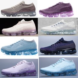 Senhoras ar on-line-2018 NOVA chegada cor Em Metallic azul roxo Colorways Air coxim Sapatos senhora Sapatos Para A Execução do sexo feminino Sapato Pack Triplo Preto mulheres sapatos