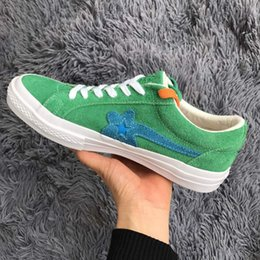 Wholesale Fashion Golf Bags - 2018 Newest (with 2 Laces and Dust Bag) Creator x One Star Ox Golf Le Fleur Sunflower Casual Fashion Running Skateboard Shoes Sneakers