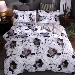 2019 cubiertas textiles Nuevo textiles para el hogar otoño estilo chino 3pcs juegos de cama funda nórdica sábana funda para hombre rebajas cubiertas textiles