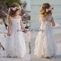 ruffles rhinestones wedding dresses Coupons - Dollcake Flower Girl Dresses Special Occasion For Weddings Ruffled Kids Pageant Gowns Flowers Floor Length Lace Party Communion Dress Sash