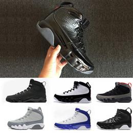 2019 zapatos deportivos al aire libre gris 2018 Barato 9 IX Bred LA Baloncesto zapatos hombre antracita alto negro blanco fresco gris zapatillas de deporte entrenador atletismo botas 9 zapatos exteriores 41-47 zapatos deportivos al aire libre gris baratos