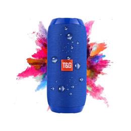 2019 musik engel sprecher TG117 Wireless Bluetooth-Lautsprecher Subwoofer im Freien tragbare Mini-Bluetooth-Lautsprecher Bass Stereo-Lautsprecher eingebaute TF-Karte Reise Reiten Audio