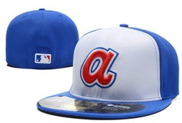 angel hats Promo Codes - New 2019 Men's LA Angels fitted hat Blue White Color flat Brim embroiered letter A Team logo fans baseball Hats bone full closed Chapeau