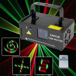 Wholesale projector disco - 3D DMX512 Effects RGY Red Green Yellow Laser Scanner Projector Full Light DJ Disco Party Xmas Professional Stage Lighting show