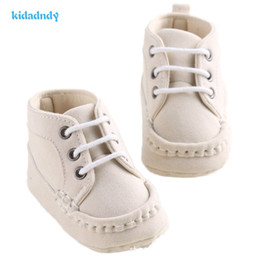 Wholesale First Version - Baby Soft Soled Shoes Korean Version Of the Anti-skid Baby Shoes Lace Toddler Boys First Walkers WMC236YD