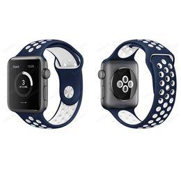 Bandas de reloj flex online-Banda de reloj Soft Sport Silicone Más bandas de Hole Straps para Apple Watch Series 38 42mm Pulsera VS Fitbit Alta Blaze Charge Flex