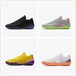 finest selection e916b 1dd03 2018 New Kobe A. D. NXT 360 Gelb Streik Mamba Tag Multicolor Mens  Basketball Schuhe für Top qualität 12 Wolf Sport Turnschuhe Größe 7-12 neue  kobe sneakers ...