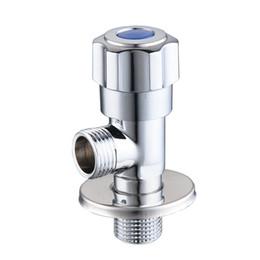 Chuveiro de mídia on-line-Válvula de fecho de cabeça de chuveiro G 1/2, Espessamento aumentar válvula aberta rápida à prova de explosão, Válvula de canto de sanita