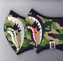 Wholesale Luminous Masks - hot sell Tide brand AAPE luminous shark mask yeezus hip hop kanye ape night running death flying fly anti-haze ski mask