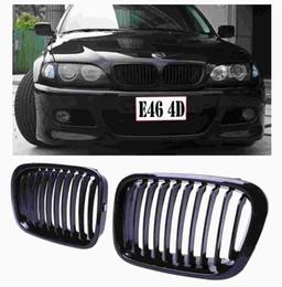 2019 bmw e46 325i 2X Gloss Black Front Grades para rim Grille Fit BMW para BMW E46 Sedan 320i 325i 325xi 330i 330xi 323i 328i 318i 1998-2001 C / 5 desconto bmw e46 325i