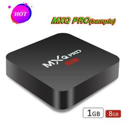 MXQ PRO 4K Android scatola tv RK3329 Android 7.1 1G / 8G WiFi 4K 1080i / p set top box Spedizione gratuita da scatola di android tv che spedice liberamente fornitori