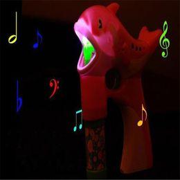 Musik-wasserlampen online-2018 neue LED Delphin Musik Lampe Licht Cartoon Niedlichen Tier Automatische Seife Wasser Spielzeug Für Spaß Großhandel Drop Shipping