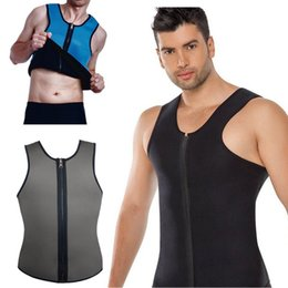 Wholesale Sauna Slimming Tummy - NINGMI Mens Slimming Vests Body Shaper Latex Neoprene Abdomen Belly Thermo Tummy Shaperwear Waist Sweat Sauna Top Corset Weight Loss