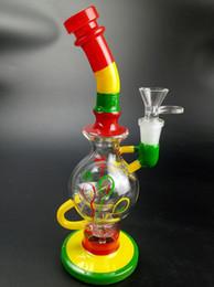 Estrangeiro de petróleo on-line-O tubo de água de vidro de coloreful tubulação de água e tubo de tabaco Alien Recycler Dab Oil Rigs Bong