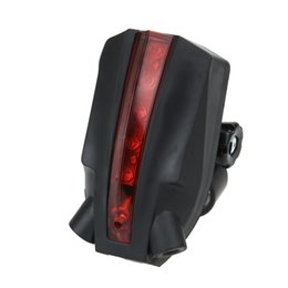 Wholesale Lamps Parts Wholesale - Waterproof Bike Bicycle LED Laser Beam Rear Tail Light 3 Modes Safety Lamp Warning Rear Lamp Reflector Bicycle Parts Accessories
