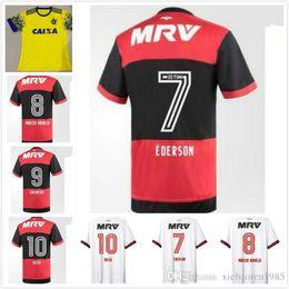 Wholesale Camisetas Futbol Thai Quality - NEW thai quality 2017white CR Flamengo soccer jersey 17 18 Flamenco camisetas futbol camisa de futebol maillot de football uniform Brasil 20