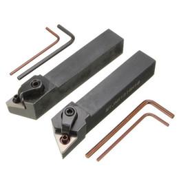 2pcs MTJN 16x100mm Tornio Portautensili per tornitura esterna per inserti TNMG1604 da