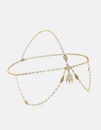 Style de bohème Pièce de tête Chaîne de cheveux Accessoire pour boho Tête ornements Bijoux hippie mariage sur la plage ? partir de fabricateur