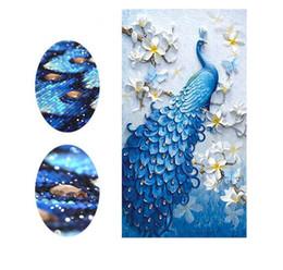 Wholesale Embroidery Stitching Tool - Embroidery Animal Peacock Full Rhinestone 5D DIY Diamond Painting Cross Stitch Diamond Mosaic Decor Craft tools