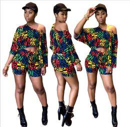 Vêtements ethniques en vrac en Ligne-2019 Africain Robe Femmes Vêtements Limited Nouveau Sexy Rétro Ethnique Dashiki Mode Lâche Deux Ensembles De Pantalon Ajusté + Robe Chemise