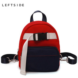 519e3f28d43 LEFTSIDE Mini Canvas Backpacks For Women 2018 Cute Small children backpack  Back Pack For Teenage Girls Multifunction Bag New