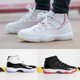 sapatos grandes Desconto AAA qualidade 11 tênis de basquete mens Concord mulheres calçados esportivos Platinum Tint Chicago designer shoes 11 s Tênis esportivos tamanho grande 36-47