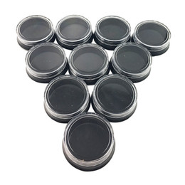 Wholesale Jewelry Clear Plastic Containers - 3g Black with clear cap small empty plastic cosmetic jars container cream jewelry jar ** bottle jewelry F20173060