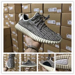 Wholesale Womens Shoes Oxfords - [With Box] Kanye West Boost 350 V1 Pirate Black Turtle Dove Moonrock Oxford Tan Camo Pink White Mens Womens sply 350 Senakers Running Shoe