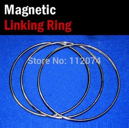 Wholesale Silver Ring Magic Trick - Wholesale- Large Size Magnetic Linking Ring 3 Rings Set,Diamter 31cm,Stainless Steel - Magic Tricks,Stage,Illusion,Gimmick,Comedy,Wholesale