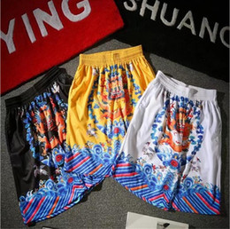 Wholesale pants dragon prints - Chinese Culture Emperor's Dragon Printing Casual Pants Man's 3 Colors Shorts