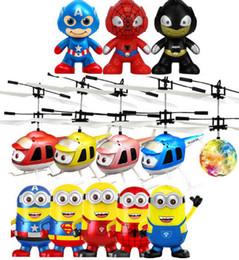 Wholesale Fly Rc - Cartoon Air RC Flying Ball Hero batman spiderman flying ball Captain America hero Kids Teenagers Flying toys DHL free