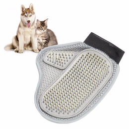 Wholesale Dog Mitts - 2017 Dog Hair Fur Remover Mitt Cat Bath Wash Grooming Glove Brush Dogs Cleaning Massage Comb