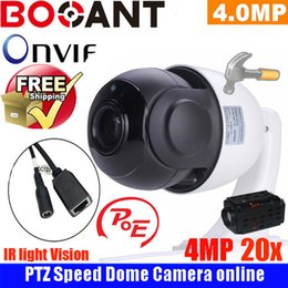 Wholesale Cctv Camera Optical Zoom - 4.5 inch Mini Size Network Onvif 4MP cctv camera ip ptz speed dome Camera 20X optical zoom ptz ip camera